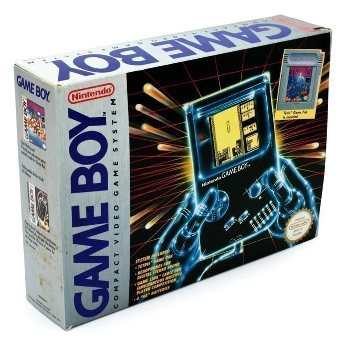 Konsole + Tetris + Linkkabel #grau Classic 1989 DMG-01