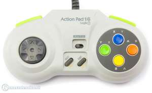 Controller / Pad mit Turbo & Slowmotion #grau Action Pad 16 [Logic 3]