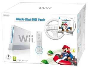 Konsole #weiß Mario Kart Pak + Spiel + Original Lenkrad + Remote + Zubehör