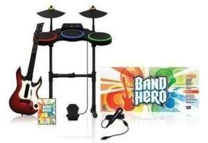 Band Hero Band Pack + Spiel + Schlagzeug + Gitarre + Mikrofon