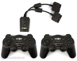 2 Controller / Pads Wireless mit Turbo & Macro + Empfänger #schwarz [Play On]