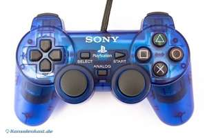 Original Sony Dualshock 2 Controller / Pad SCPH-10010 #blau-transp.