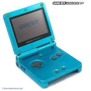 Konsole GBA SP inkl. Netzteil #Surf Blue AGS-001