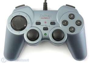 Controller / Gamepad Analog mit Rumble Funktion #blau-schwarz [Saitek]