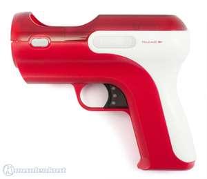 Original Move Controller Aufsatz: Light Gun / Pistole / Phaser / Blaster / Rifle #rot-weiß [Sony]