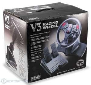 Lenkrad / Racing / Steering Wheel mit Pedale #schwarz V3 [Interact]