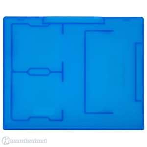 Game Case / Schutzhülle für 2 DS & 1 GBA Modul #blau-transparent [Dritthersteller]