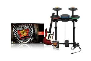 Guitar Hero 6: Warriors of Rock Band Pack + Spiel + Schlagzeug + Gitarre + Mikrofon