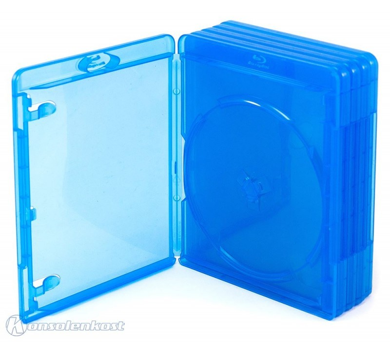 5 Blu-ray Cases / empty cases #blue-clear