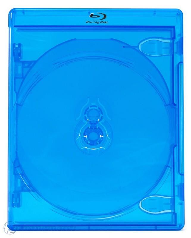 Blu-ray Case Leerhülle #blau-transparent