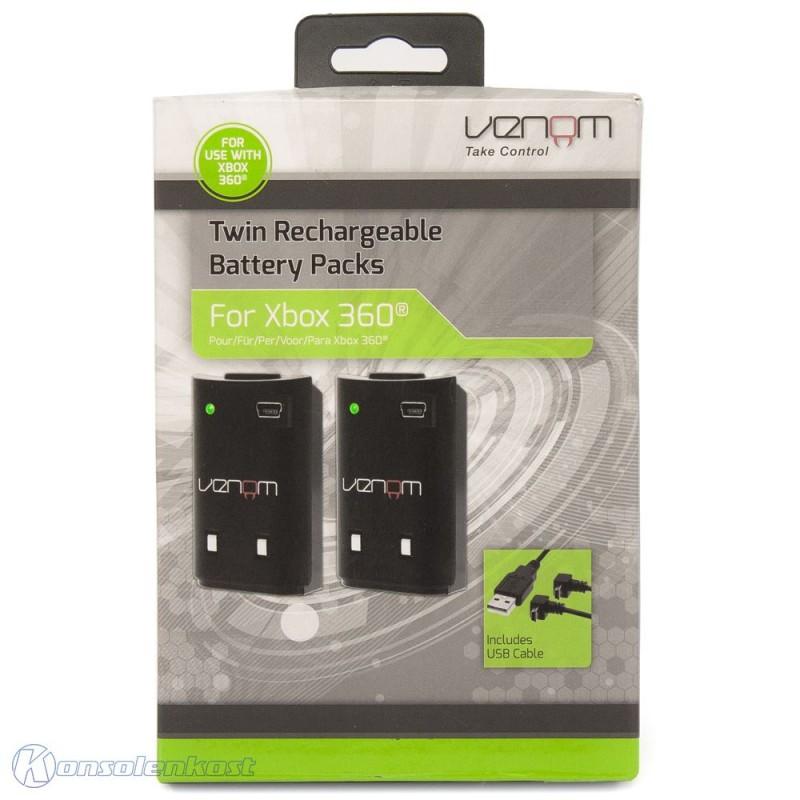 Twin Rechargeable Akku / Battery Pack #schwarz [Venom]