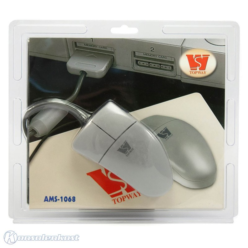 PS1 - Controller / Mouse / Maus #grau / AMS-1068 [Topway]