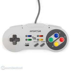 Controller / Pad mit Turbo & Slowmotion #grau [Highcom]