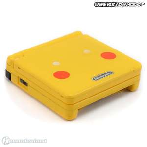 Konsole GBA SP AGS-101 #Toys R Us Pokemon Pikachu Edition + Netzteil
