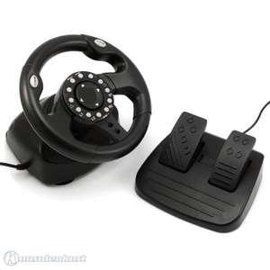 Lenkrad / Racing / Steering Wheel mit Pedale #schwarz Booster 2800 V2 [Brooklyn]
