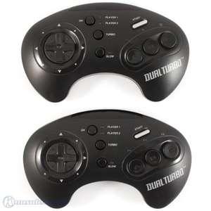 2 Wireless Controller / Pads mit Turbo & Slowmotion #schwarz Dual Turbo [Acclaim]