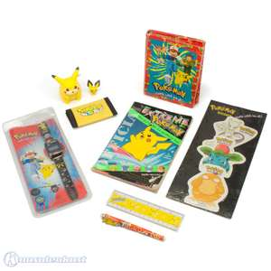 Pokemon Fan Set: Geldbeutel, Lineal, Armbanduhr, Adressbuch, Aufkleber, Pokemon Guide