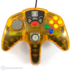Controller / Pad mit Turbo & Slowmotion #orange-transparent [High Frequenzy]