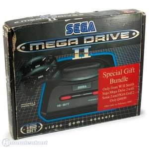Konsole MD2 + Sonic 2 + PGA Golf 2 + 2 Original Controller + Zubehör
