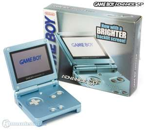 Konsole GBA SP AGS-101 #Pearl Blue + Netzteil