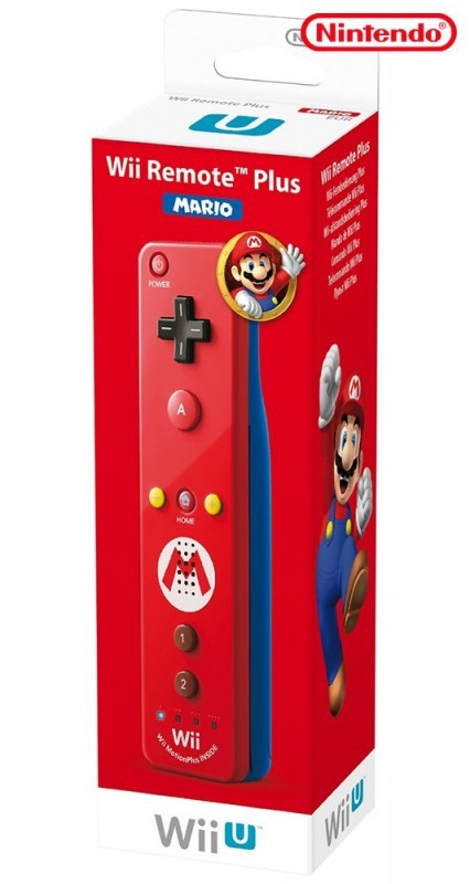 Wii U - Original Remote mit Motion Plus Mario Edition #rot
