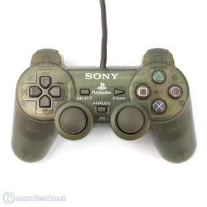 Original Sony Dualshock 2 Controller / Pad SCPH-10010 #dunkelgrün-transparent