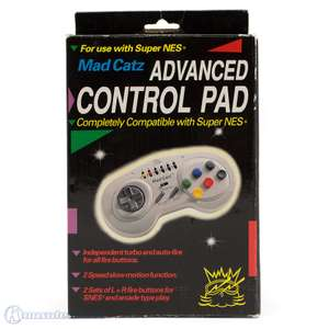 Controller / Pad mit Turbo & Slowmotion #grau Advanced Control Pad [Mad Catz]