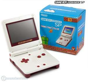 Konsole GBA SP inkl. Netzteil #Famicom Color Edition