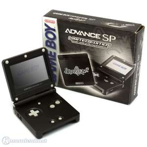 Konsole GBA SP #schwarz Who Are You Edition + Netzteil