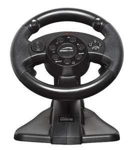 Lenkrad / Racing / Steering Wheel mit Pedale #schwarz Darkfire [Speedlink]