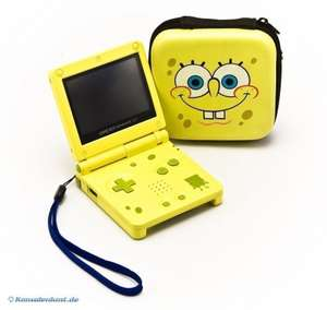 Konsole GBA SP AGS-101 #Spongebob Edition mit Tasche + Netzteil