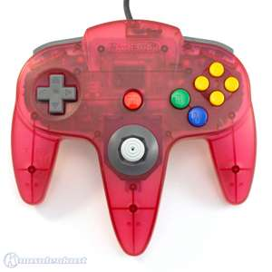 orig. Controller / Pad #Clear-Red White / rot-weiß transp. #NUS-005