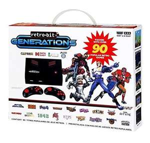 Retro-Bit Generations Plug and Play Konsole + 2 Controller + 90 Retro-Klassiker