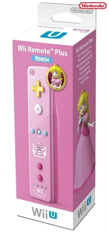 Wii U - Original Remote Motion Plus Controller #Peach Edition
