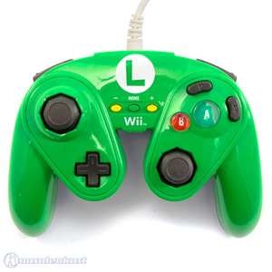 Original Wired GameCube Controller / Pad #Luigi Edition Fight Pad [pdp]
