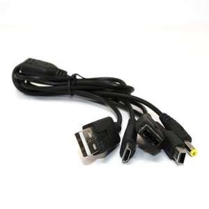 Universal USB Ladekabel für PSP/DS/DS Lite/DSi/DSi XL/3DS/3DS XL [verschiedene Hersteller]