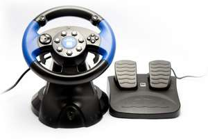 Lenkrad / Racing / Steering Wheel mit Pedale #Blue Lightning [Speedlink]