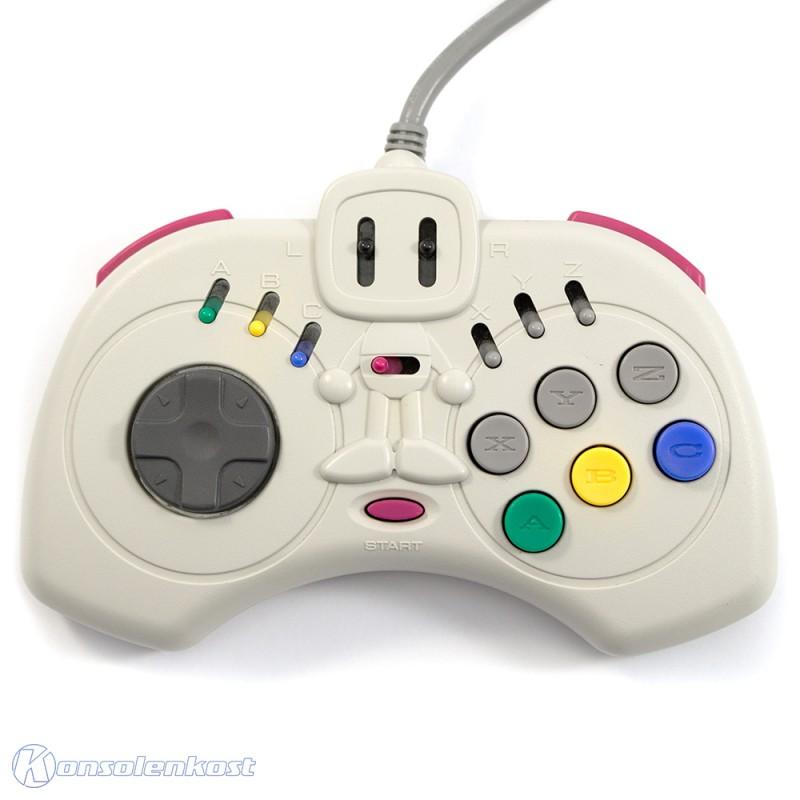 Controller / Pad mit Turbo #grau SBom Joycard HC-735 [Hudson Soft]