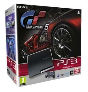 Konsole Slim 320GB #schwarz + Gran Turismo 5 + Original Controller + Zubehör
