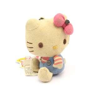 Hello Kitty Sanrio Character Prize - Bear Doll Plüsch Figur / Anhänger #blau-rosa / 10cm