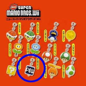 New Super Mario Bros. Wii Item Collection Anhänger: POW Block