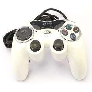 Wired Controller / Pad mit Turbo & Rumblefunktion #weiss [Cyber Gadget]