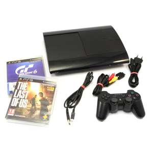 Konsole Super Slim 500GB + Controller + Zubehör + Last of Us + GT 6