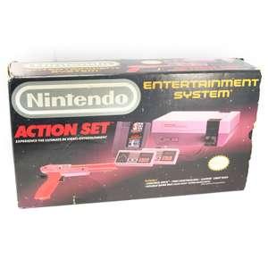 Konsole 60Hz Region-Free #Action Set + Spiel + 2 Original Controller + Zapper + Zubehör