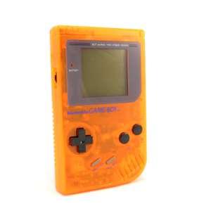 Konsole #Custom Case orange-transp. + Backlight #grün