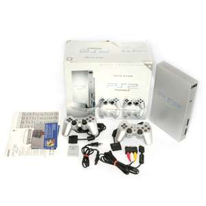 Konsole #silber/Picture-Cover + 2 DualShock Controller