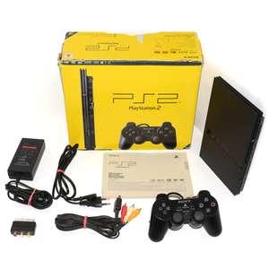 Konsole Slim 1G SCPH-7500x #schwarz + Original Controller + Zubehör