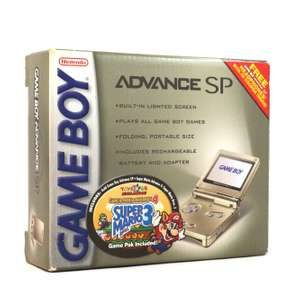 Konsole GBA SP #Starlight Gold Toys'R Us Edition + Spiel