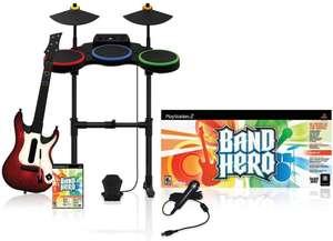 Band Hero - Super Bundle + Spiel + Gitarre + Schlagzeug + Mikro