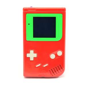 Konsole #Custom Case rot lackiert + Silikon Glow Buttons + Backlight #grün [bivert]